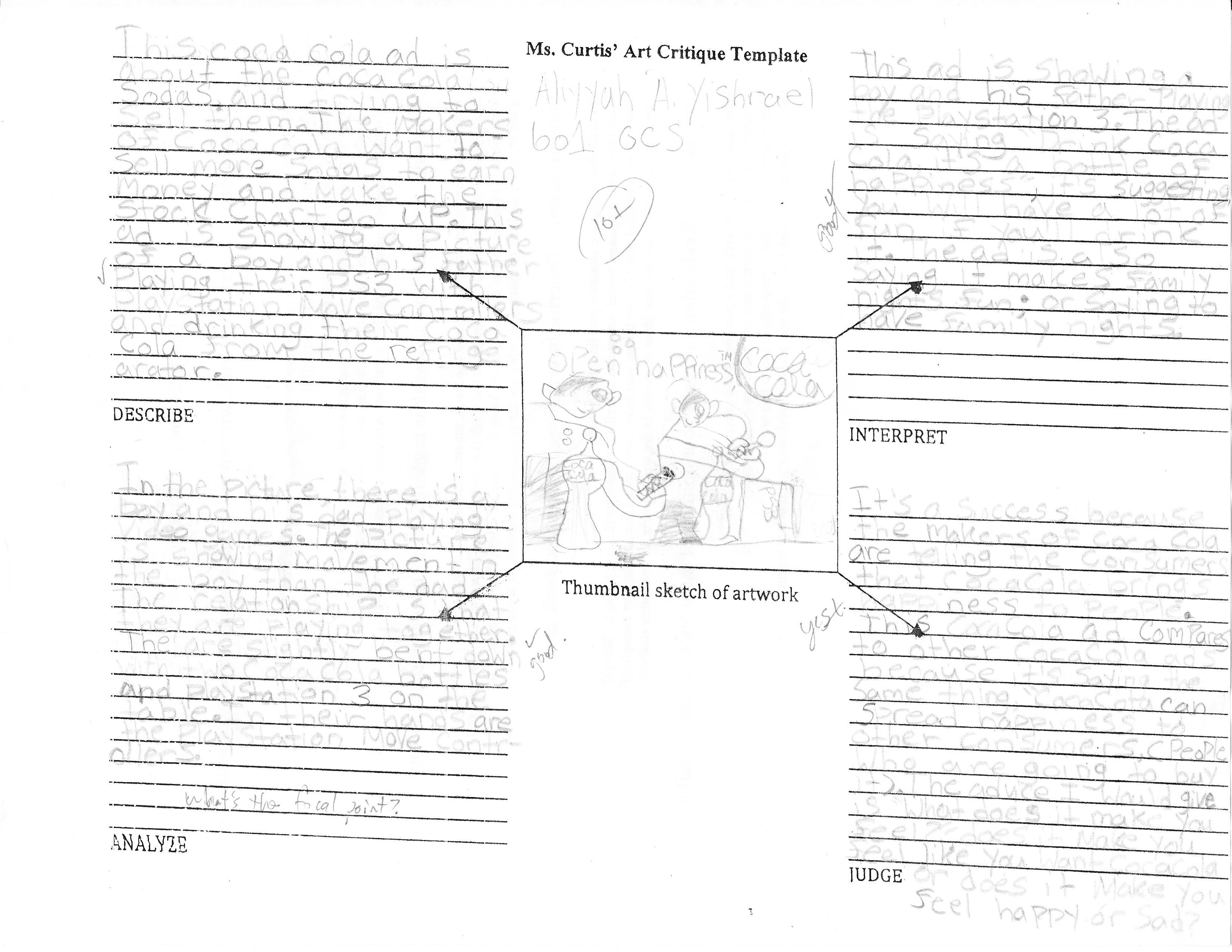 Art Criticism Worksheet Worksheets For School Getadating – Art Criticism Worksheet