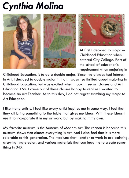 artist profile -cynthia molina