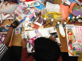 Making collaborative collages in City Art Lab. (2013)