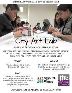 City Art Lab 2015 flyer revised