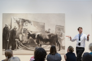 David Bowles in action- teaching in the galleries at the Met
