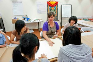 Museum Education takes place in the classroom as well as the galleries! (photo credit: Rubin Museum of Art)