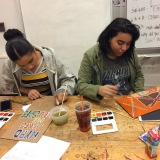 Rotation 2 | Session 2: Watercolor Resist & Poster Design- the use of text and image